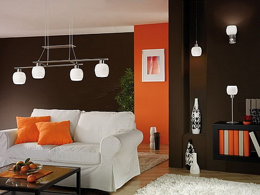 Modern-interior-painting-with-brown-and-orange-color